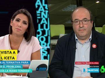 """Miquel Iceta: """"No entiendo que Podemos quiera entrar en el Gobierno con un resultado electoral peor"""""""