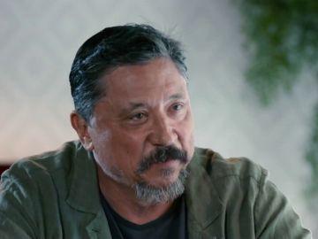 Carlos Bardem habla con Cristina Pardo