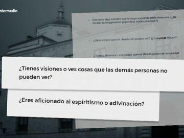 Uno de los cuestionarios que tienen que responder durante las sesiones del curso