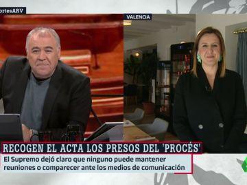 """María José Catalá (PP) critica la presencia de los presos independentistas en el Congreso y el Senado: """"Todo esto me parece un teatro"""""""