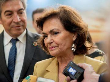 La vicesecretaria del Gobierno en funciones, Carmen Calvo