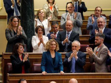 Meritxell Batet, tras ser elegida presidenta del Congreso