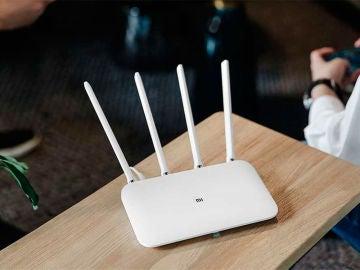 Router sobre una mesa