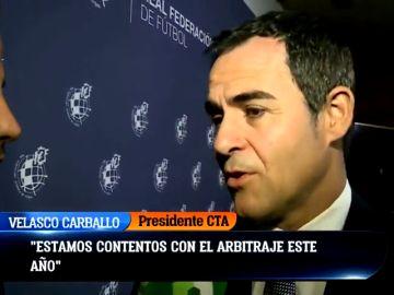 """Velasco Carballo: """"El VAR ha tenido errores, pero estamos contentos con el arbitraje este año"""""""
