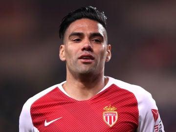 Falcao durante un partido con el Mónaco