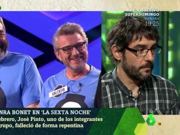 Juanra Bonet recuerda a José Pinto