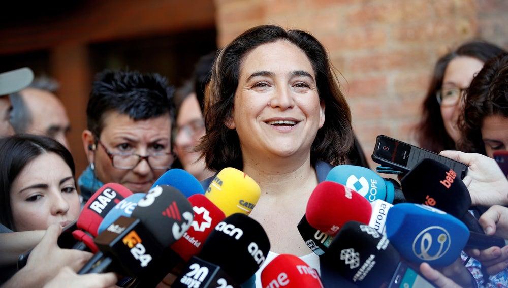 La alcaldesa y candidata de Barcelona en Comú a la reelección, Ada Colau