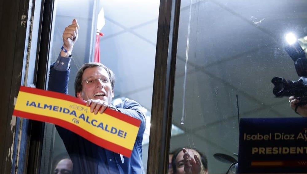 El candidato del PP al Ayuntamiento de Madrid, José Luis Martínez-Almeida