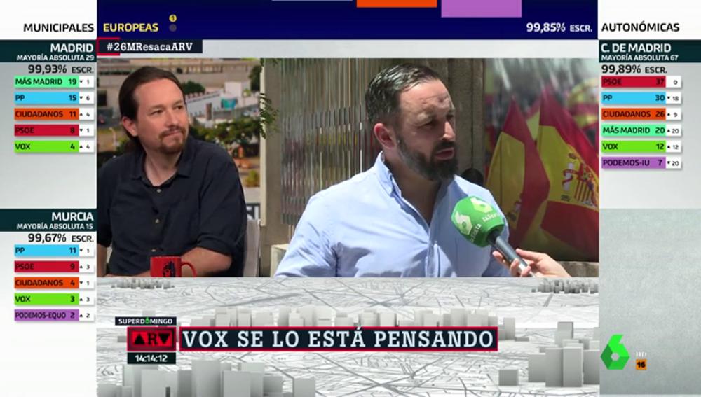 """Santiago Abascal: """"No descartamos la posibilidad de plantear nuestra entrada en los gobiernos"""""""