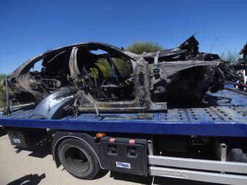 El coche en el que viajaba José Antonio Reyes