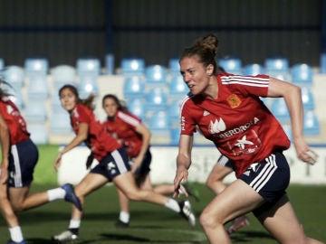 Celia Jiménez jugadora de la Selección Española de fútbol