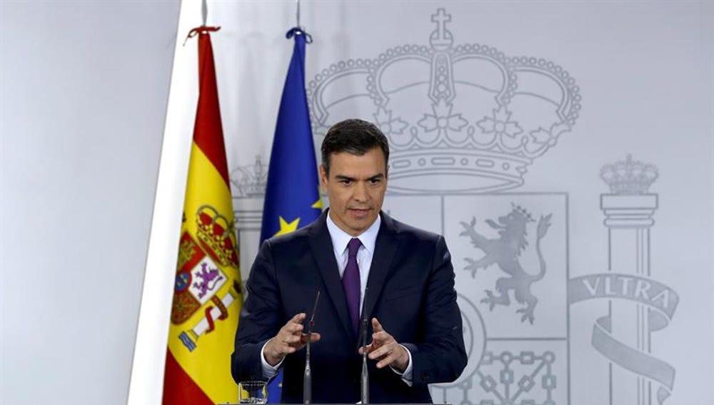 El presidente del Gobierno en funciones, Pedro Sánchez
