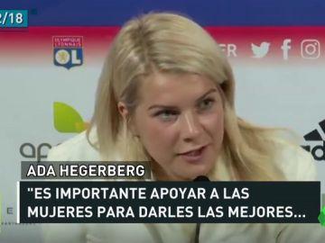 """Ada Hegerberg mantiene la lucha contra la desigualdad en el deporte: """"Es algo a lo que estoy dispuesta por mantener mis valores"""""""