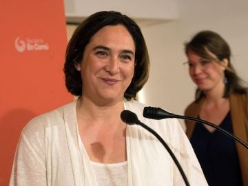 Imagen de Ada Colau en rueda de prensa