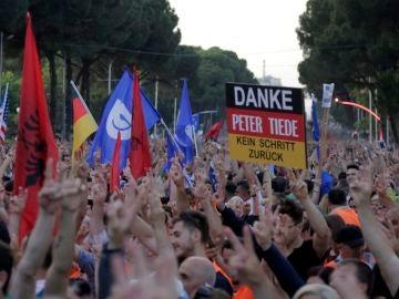 Protestas en Albania contra el Gobierno