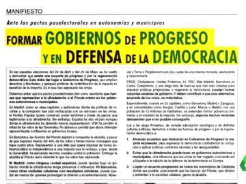 """El manifiesto que pide """"gobiernos de progreso"""""""