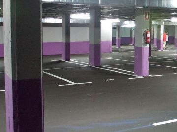 Imagen de archivo de un parking