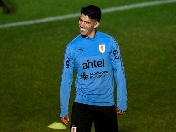 Luis Suárez, con Uruguay