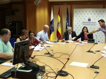 Miembros del Comité científico de evaluación y seguimiento de fenómenos volcánicos del Gobierno de Canarias