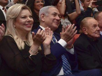 Benjamin Netanyahu junto a su mujer, Sara Netanyahu