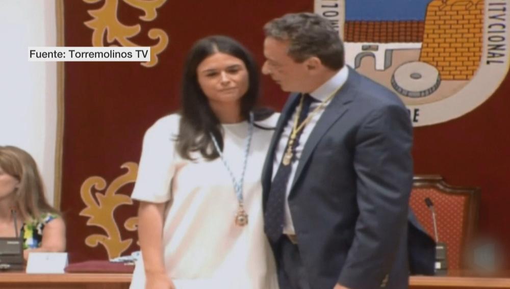Lucía Cuín en el pleno en el que di la alcaldía al PSOE en Torremolinos