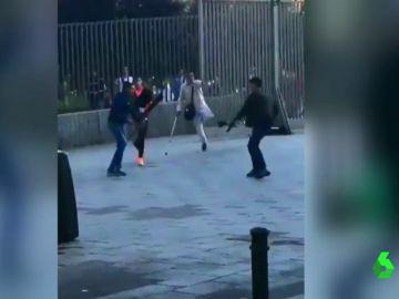Brutal pelea a machetazos en un parque del barrio madrileño de Lavapiés