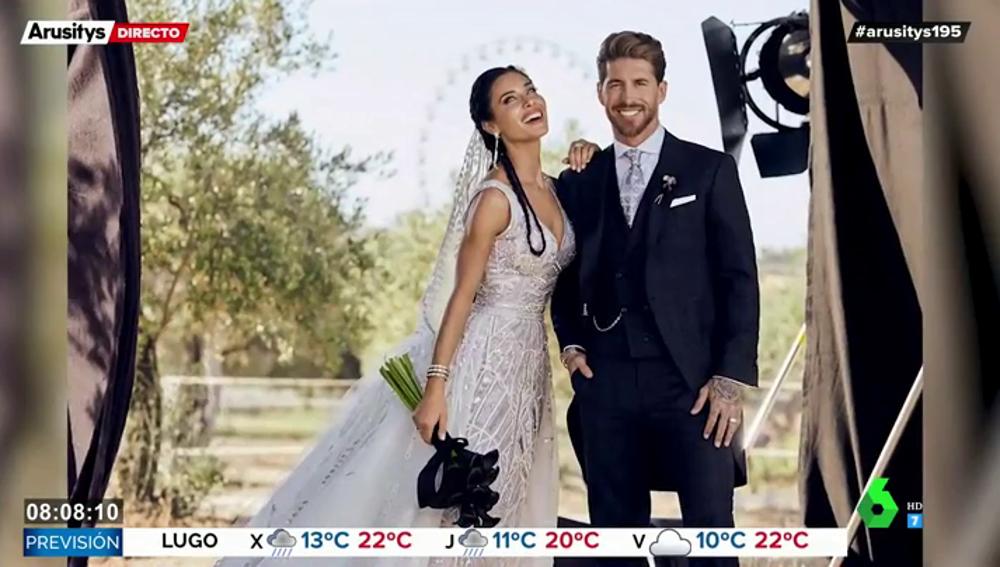 Pilar Rubio y Sergio Ramos muestran imágenes inéditas de su boda