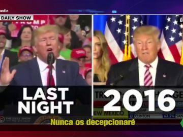 Estas son las diferencias entre el discurso de la campaña de Donald Trump en 2016 y su discurso de reelección