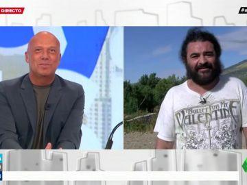 """La conexión en directo más surrealista de El Sevilla y Arusitys: """"Escucho un ruido muy extraño"""""""