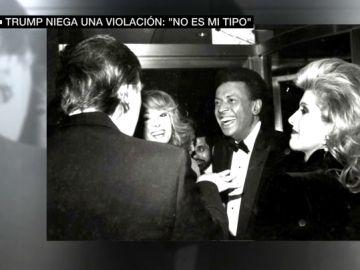 Imagen de la periodista E. Jean Carroll en un evento con Trump