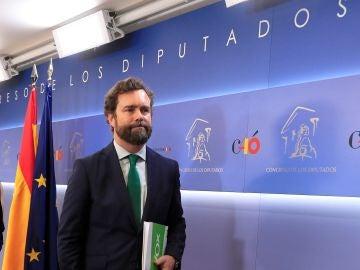 Iván Espinosa de los Monteros, portavoz de Vox en el Congreso de los Diputados