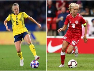 Magdalena Eriksson y Pernille Harder