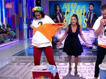 Cristina Pedroche y Jon Plazaola se enfrentan en el Juego de la SemAnna: ¿quién conseguirá romper antes 15 camisetas?