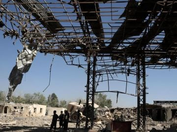 Una casa en Afganistán tras una explosión