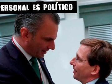 Ortega Smith (Vox) y Martínez Almeida (PP)