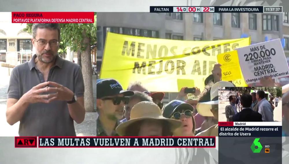 """Paco Segura: """"Lo que quiere el Ayuntamiento es descafeinar Madrid Central"""""""