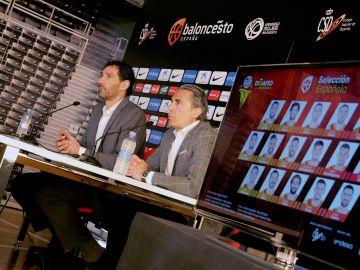 Scariolo, junto a Jorge Garbajosa