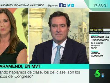 """Antonio Garamendi, sobre la investidura: """"No estoy presionando a nadie, ni esas grandes empresas me ha llamado a mí para presionarme"""""""