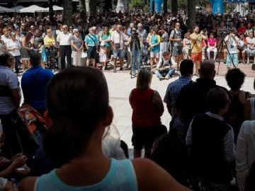 Vista de la concentración convocada por el Ayuntamiento de Beasain