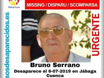 Cartel desaparecido Bruno Serrano