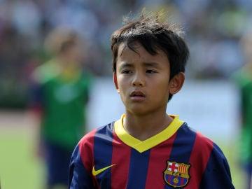 Takefusa Kubo, en el FC Barcelona