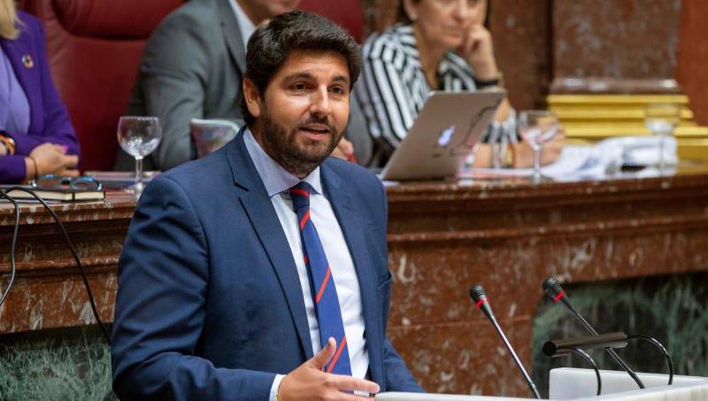 El presidente de Murcia, Fernando López Miras