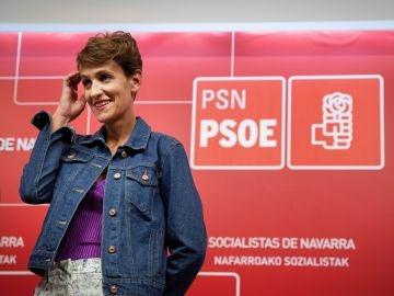 La presidenta de Navarra, María Chivite