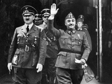 Encuentro de Adolfo Hitler con el general Francisco Franco en 1940