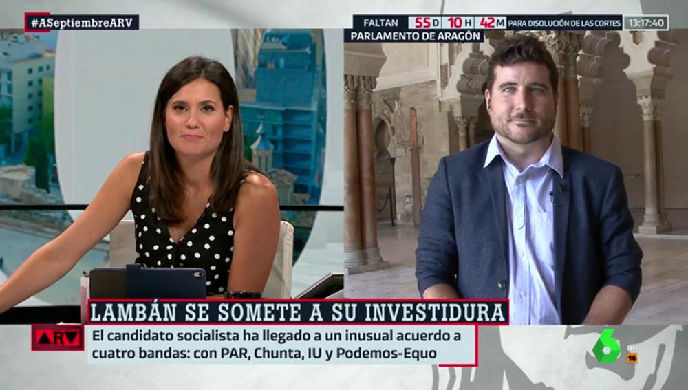 """Nacho Escartín (Podemos Aragón): """"Aquí llegamos a un acuerdo porque pensamos en el interés común y el amor por Aragón"""""""