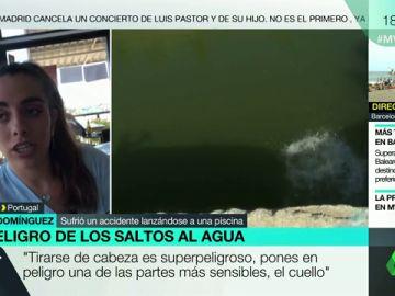 """El sobrecogedor relato de Berta, que quedó tetrapléjica tras tirarse a una piscina: """"En un segundo tu vida se ha ido al garete"""""""