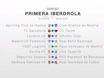 La primera jornada de la Liga Iberdrola 2019/2020