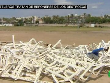 Los hosteleros catalanes hacen balance de los destrozos tras las tormentas