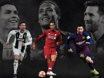 Cristiano, Van Dijk y Messi, nominados por la UEFA a Mejor Jugador del Año