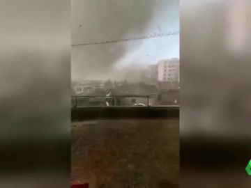 Imágenes de un tornado en el noreste de China